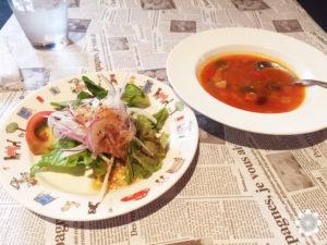 ワインレストランクスクス前菜&スープ
