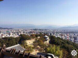 松山城 天守閣からの眺め