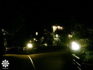 黒川温泉 夜の景色